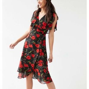Urban Outfitters Kimchi Blue floral wrap dress